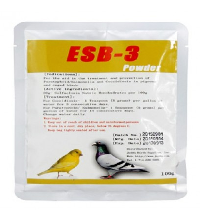 ESB-3 POWDER - coccidiosis and paratyphoid - birds - pigeons