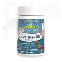 Tony's Treasure 100 Tablets - 5 in 1 - broad spectrum treatment - by Vetafarm