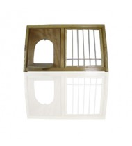 """Cage Accessories - Wood Nest Box Front 24""""x14"""""""