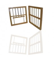 """Cage Accessories - Wood Nest Box Front 28""""x14"""""""