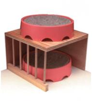 Wood Nest Bowl Shelf - 10 x 10 x 10 in