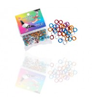 Rings/Bands for racing  pigeons - 50 aluminum rings of mixed colors