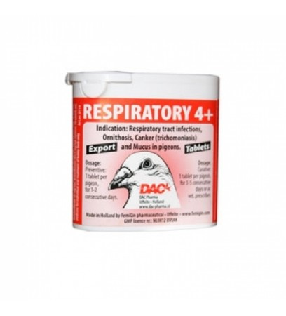 Respiratory 4+ Tablets - Bacterial Infections - by DAC
