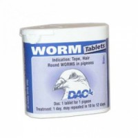Worm Tabs 50 tablets - Roundworm - Tapeworm - by DAC